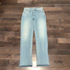 GRLFRND   Helena High Rise Denim Jeans Aritzia 24